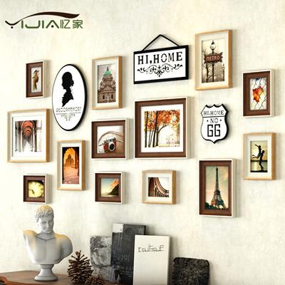 European creative combination living room-bedroom photo wall frame wall  wall 13 small size photo wal