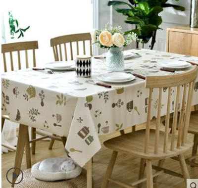 09036d89b7f European pastoral tablecloth fabric table cloth waterproof disposable  plastic PVC Taiwan arming oil