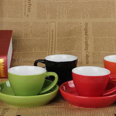 European Style Bone China Coffee Cup Espresso Cuccino White Suit Gl Tea Cups