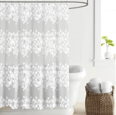 European Style EVA Plastic Waterproof Shower Curtain Telescopic Rod Free Punching Thick Translucent