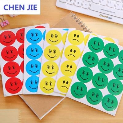 European Zero Oussirro 10 Bag Stickers Smiley Sticker I Smile Posted Students Praise Stickers P
