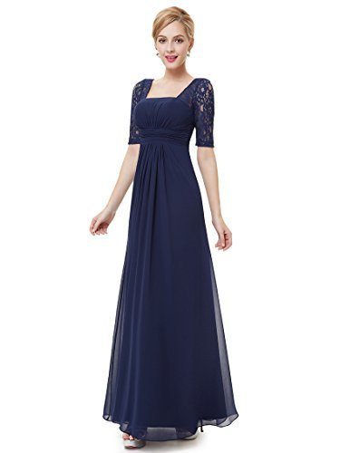 d5cd02459872 Qoo10 - Ever Pretty Womens Long Formal Wedding Guest Dress 16 US Navy Blue    Women s Clothing
