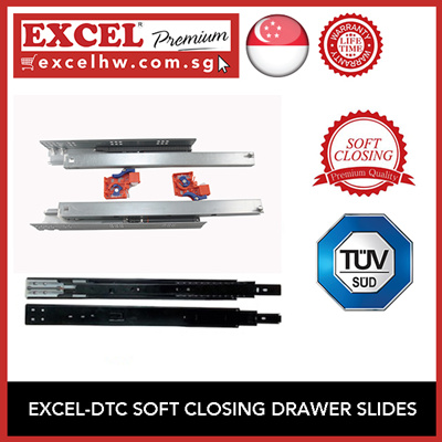 EXCELEXCEL DTC SOFT CLOSING FULL EXTENSION DRAWER SLIDERS