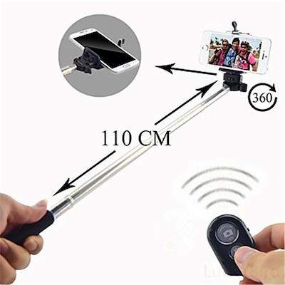 Extendable Handheld Selfie Stick With Wireless Bluetooth Remote Control For  Smartphone/Samsung