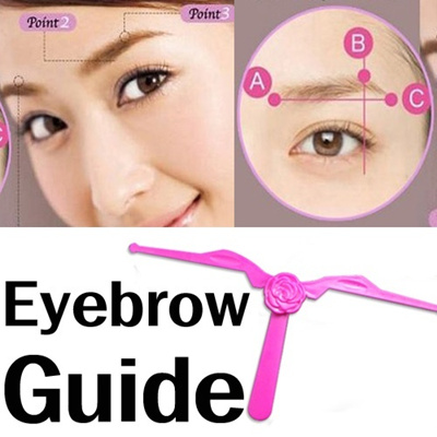 Qoo10 Eyebrow Guide Template Brow Shaping Diy Beauty Tool Facial