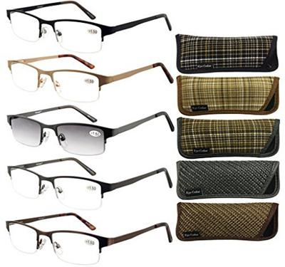 8dd809e4b0 Qoo10 - (Eyecedar) Eyecedar Metal Half-Frames Reading Glasses Men 5-Pack  Sprin...   Household   Bedd.
