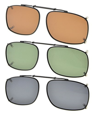 c797c633dff Qoo10 - Eyekepper Grey Brown G15 Lens 3-pack Clip-on Polarized Sunglasses 2  1 ...   Fashion Accessor.