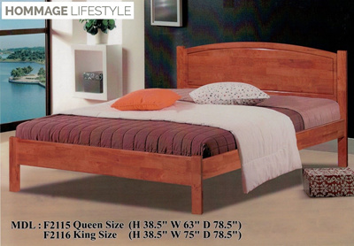 new products f1048 99c89 F211 Solid Wood Bed Frame (Single / Super Single / Queen / King)