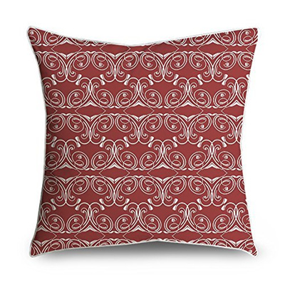 Fabricmcc Vintage Red Damask Throw Pillow Cover Accent Decorative Case Cushion 18x18 Fo