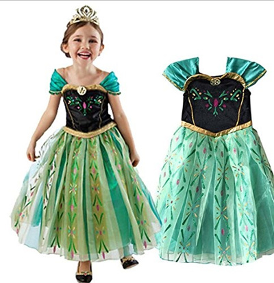 FAC1 Anna Coronation Dress Disney Frozen Inspired Girl Costume Kids Size 2T- 10 USA-  sc 1 st  Qoo10 & Qoo10 - FAC1 Anna Coronation Dress Disney Frozen Inspired Girl ...