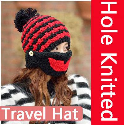 Face Mask Hole Knitted Hat Ski Army Stocking Winter Cap Beanie Hood  Balaclava e190f0b803d6