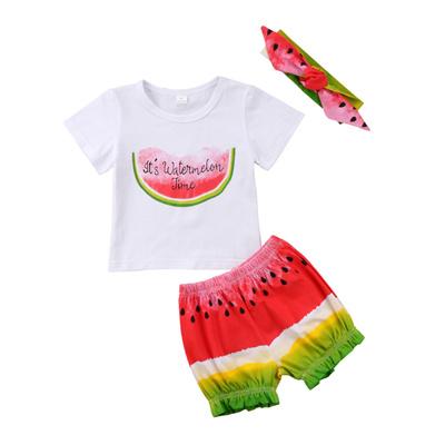 6417b87c50af Qoo10 - factory 2018 Toddler Newborn Kid Baby Girls Watermelon Clothes Top  Rom...   Kids Fashion