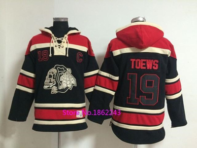innovative design e9817 b8e0e Factory Outlet, Mens Ice Hockey Hoodies Chicago Blackhawks Jersey Skull  Sweatshirts Stitched Logos #