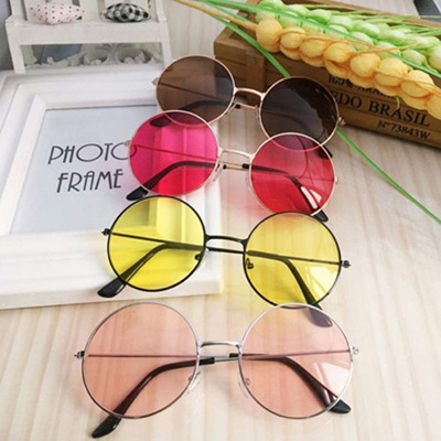 d83bb247c factory Retro Round Sunglasses Women Sun Glasses Lens Alloy Sunglasses  female Eyewear Glasses Frame
