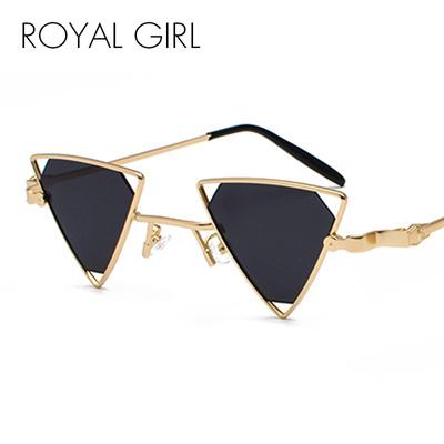 79cd37dcc6 factory ROYAL GIRL Vintage Punk Triangle Sunglasses Women Men Metal Frame  Black Red Yellow Pink Sun