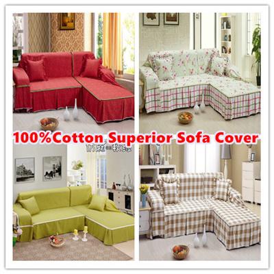 Factory supply superior 100% cotton sofa cover*best sofa covers*20designs  new thicken cotton sofa covers /good quality sofa covers /L shape sofa ...