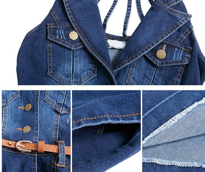 046e86be7c8 Qoo10 - factory Vestido jean   Women s Clothing