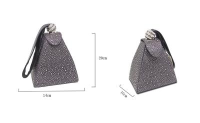 ab29efa072b0 factory Vintage Diamond Bridal Wedding Purse Mini Gray Pyramid Party  Handbags Women Bag Wristlets Cl