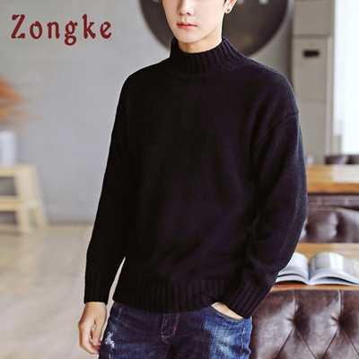 Qoo10 Factory Zongke White Turtleneck Sweater Men Pullover Knitted