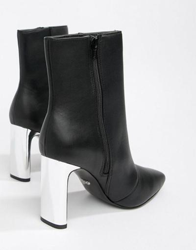 50cc16cb413 Faith Betty slim heel high rise ankle boots in black