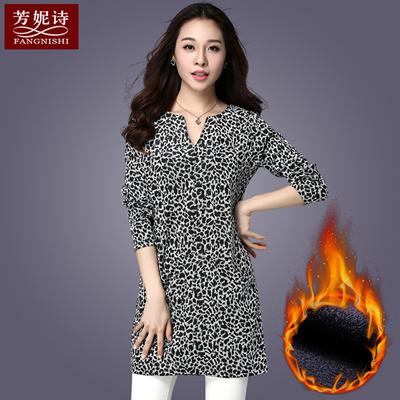bb2b1f6ca9546 Qoo10 - Fall winter fat mm outside wearing plus size women s plus fleece  long ...   Women s Clothing