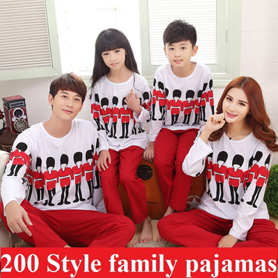 Family sleepwear cute lovely women pyjamas long sleeve top and bottom set short  sleeve men pajamas bae5ab9eb