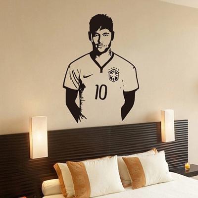 Qoo10 Famous Soccer Players Neymar Wall Stickers Home Decor Wall
