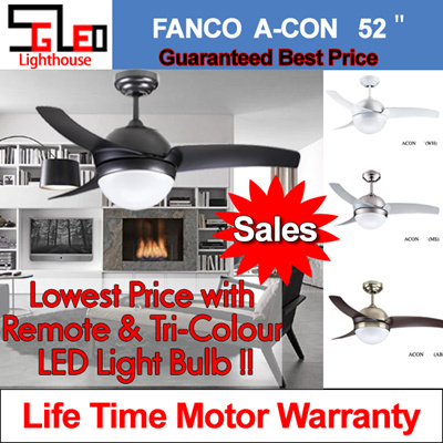 Qoo10 ceiling fan home electronics acon 52 fanco warehouse sale ceiling fan with remote control safety mark led aloadofball Image collections