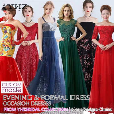 1dd3f602a26ad [YHZBRIDAL]Fantastic Gown Plus Size Evening Wear Formal Occasion Dress  Dinner Party Dresses