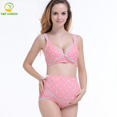 20fe9eb64c Qoo10 - Fashion 100% Cotton Maternity Bra+pant Set Women For Pregnant  Prevent ...   Baby   Maternity