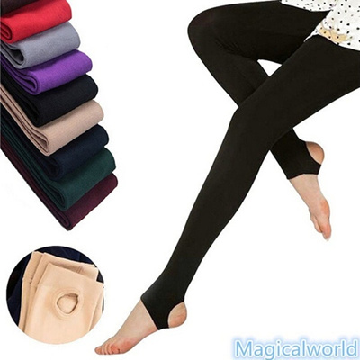 1155ebcc9 Qoo10 - Fashion 8Colors Brushed Stretch Fleece Lined Thick Tights Warm  Winter ...   Women s Clothing
