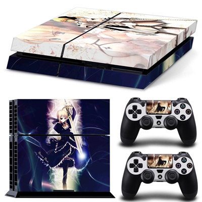 Fashion Anime Cool Vinyl Custom Sticker Covers Skins Decal Set For Ps4  Playstation 4 Console Control