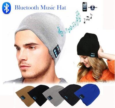 Fashion Beanie Hats Cap Wireless Headphones Bluetooth Earphone Smart  Headset Headphone Winter Hat Un 58aff0f7ebe