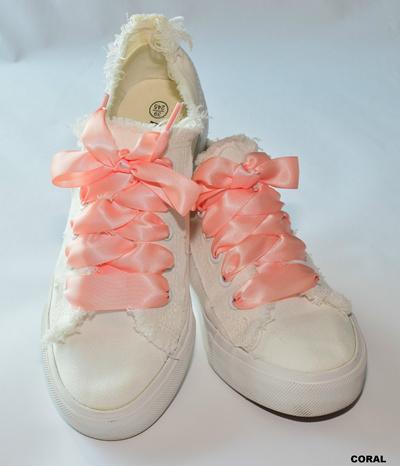 e6b9a31c9fd Fashion Colourful flat silk satin ribbon shoelaces