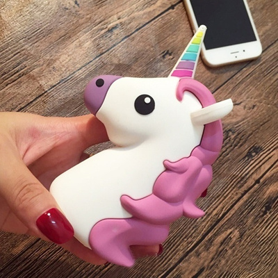 Fashion Cute Portable Emoji Power Bank 2600MAH Charger Unicorn Cartoon Bateria For Any Kind of Smart