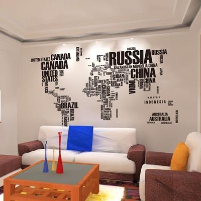 Qoo10 fashion english word world map wallpaperlarge black wall fashion english word world map wallpaperlarge black wall paper wall decor pvc gumiabroncs Gallery