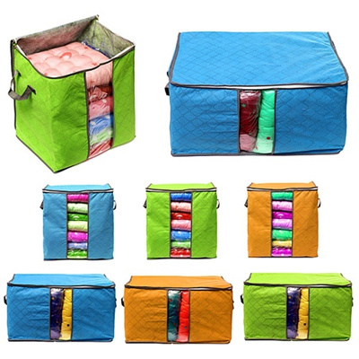 Fashion Foldable Clothes Pillow Blanket Closet Underbed Storage Bag Organizer Box