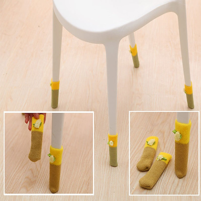 Fashion Home Chair Leg Sock Table Foot Socks Protection Knitting Wool Floor Covers Baby Safety