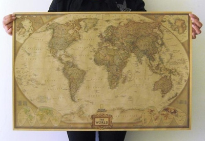 Large Paper World Map.Qoo10 Fashion Large Vintage Retro Paper World Map Poster 28 X 18