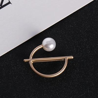 3771427ba5c Fashion pearl brooch pin all-match cardigan Lady Gaga wind bow diamond  brooch pearl button