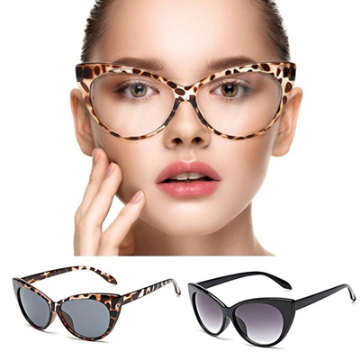 2dde1b0bf5 Qoo10 - Fashion Sexy Women Cat Eye Glasses Vintage Leopard Eyeglasses Frame  L...   Shoes