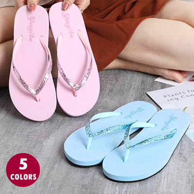 242e484093a Qoo10 - Fashion Shoes Women Bling Slim Flip Flop Flat With Outdoor Slipper  Sum...   Shoes
