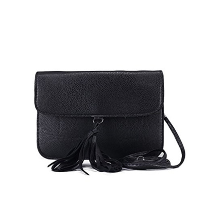 e34467f7cca7 Qoo10 - Fashion Small Ladies Clutch Vegan Leather Bag with Tassels Purse  Handb...   Bag   Wallet