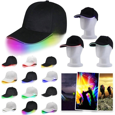 c74550f1fac6b Fashion Unisex Adjustable LED Lighted Up Hat Glow Club Party Baseball Hip-Hop  Golf Dance