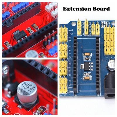 Fashion UNO ATMEGA328P Durable Arduino Nano Shield I/O Expansion Module Extension Board
