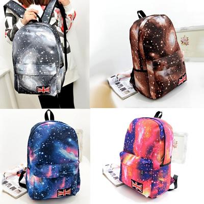 614d9591823b Qoo10 - Fashion Women Girl Canvas Bag Galaxy Print Cosmic Space Backpacks  Scho...   Bag   Wallet