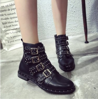 Qoo10 Fashion Women Motorcycle Boots Ladies Vintage