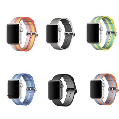 f047d29238f624 Qoo10 - fashion Woven Nylon Watchband straps iWatch Apple Watch 38mm 42mm  Fabr... : Men's Bags & Sho.