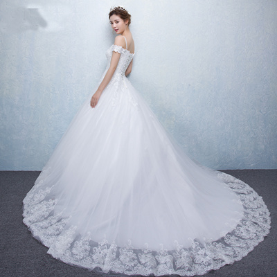 Qoo10 - Fashionable Mermaid Tail Wedding Gown With Lace Up Off ...
