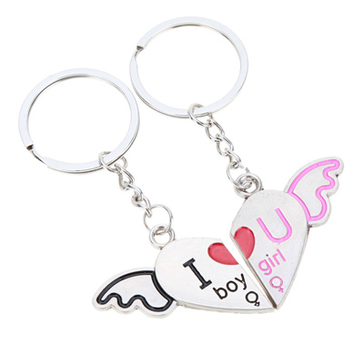 Qoo10 - Fashional Jewelry Classical Couple Pendant Key Ring Key Chain Two  Half...   Fashion Accessor. 7b70a5d8808c